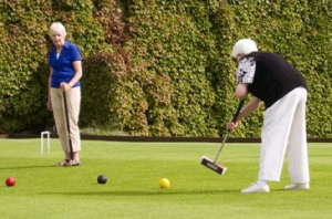 Croquet Lawn with 2 players