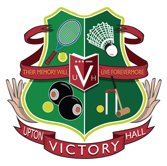 Upton Victory Hall Centenary Coat of Arms Logo